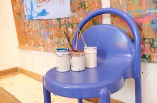Farben auf Stuhl