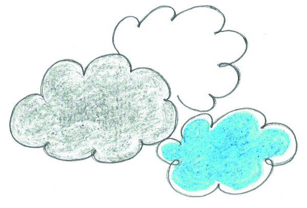 drei Wolken